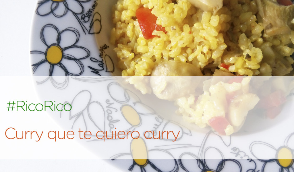 Arroz con curry y verduras