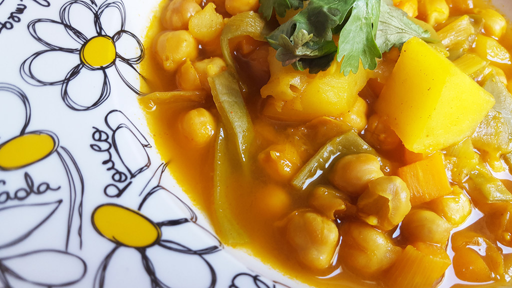garbanzos con curry